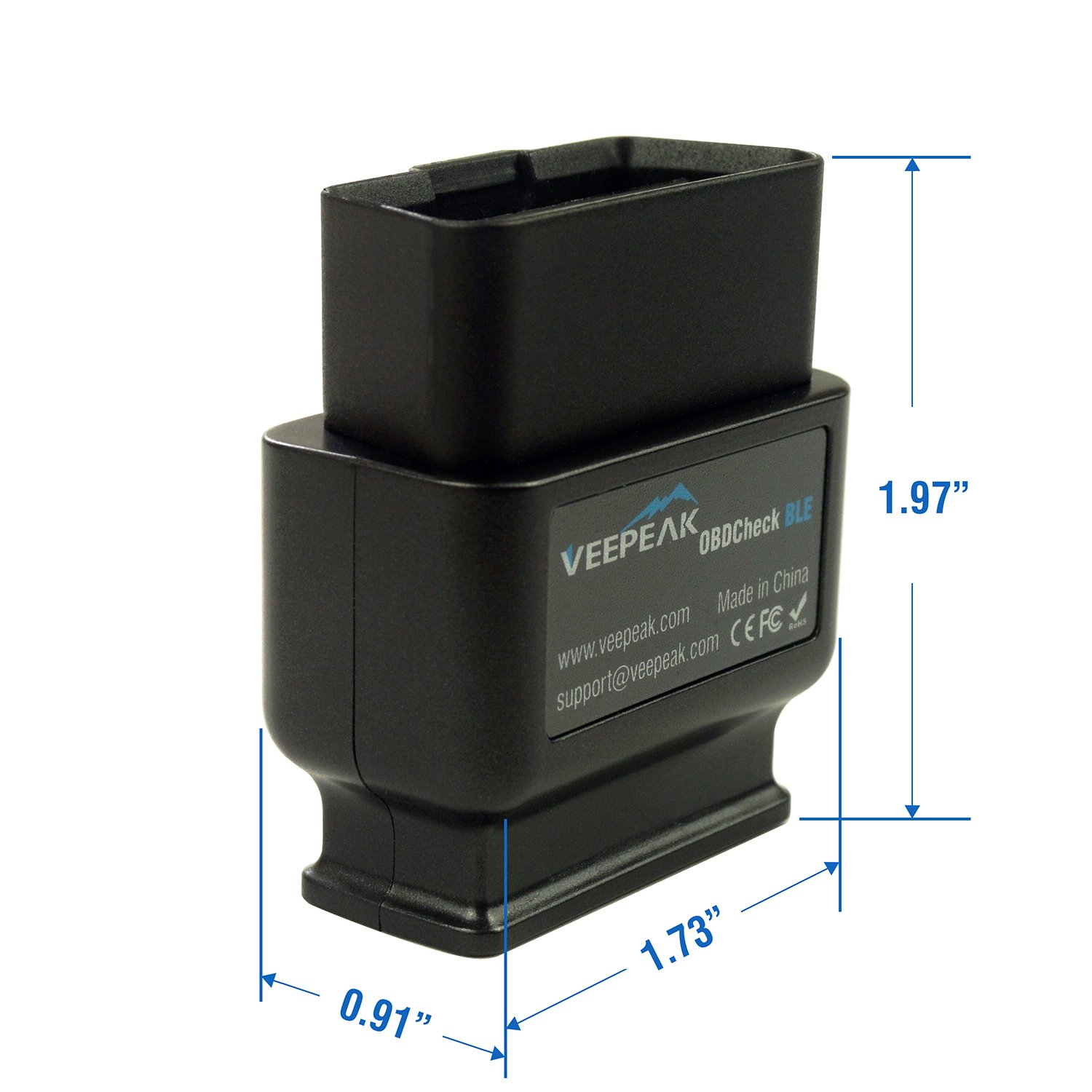 Veepeak OBDCheck BLE Bluetooth 4.0 OBD2 Scanner Adapter for iOS /& Android A...